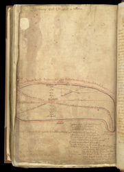 The main Roman Roads Of England, In Matthew Paris's 'Book Of Additions'